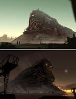 Steampunk Trains by Hideyoshi