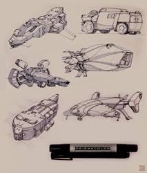Marker Sketches 2 by Hideyoshi