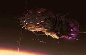 Organic Starship by Hideyoshi