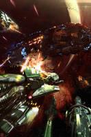Starship Blackbeard 3 - Dreadnought by Hideyoshi