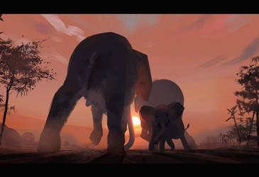 Elephant Walk by Hideyoshi
