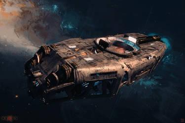 NEXUS - Coffin - Space Barge by Hideyoshi