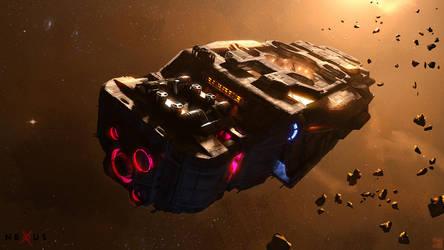 NEXUS - Voyeur - Space Barge by Hideyoshi