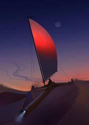 Hoisting the Sail by Hideyoshi