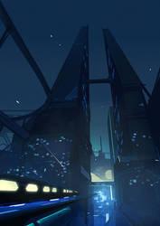Futuristic Train by Hideyoshi
