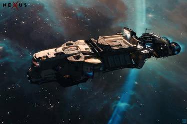 NEXUS - Crowdsource - Space Barge by Hideyoshi