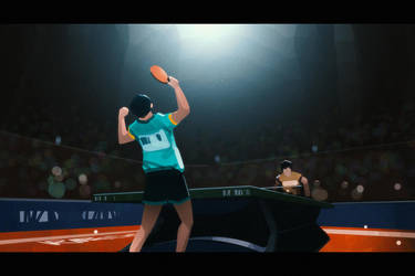 Ping Pong Victory by Hideyoshi