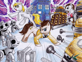 Commission: Doctor Whooves Adventures by jadenkaiba