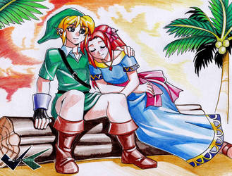 Commission: Link and Marin by jadenkaiba