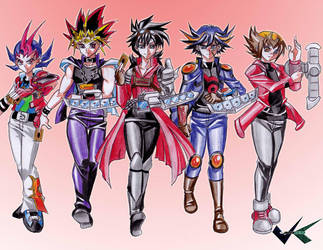 Commission: Yugioh Boys by jadenkaiba