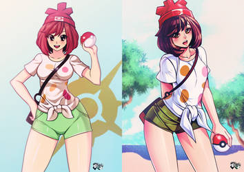 Pokemon Sun and Moon - Female Trainer by jadenkaiba