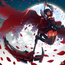 RWBY Vol 4 -  Sky High Ruby Rose by jadenkaiba