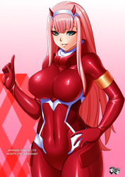 DARLING IN THE FRANXX - Zero Two by jadenkaiba