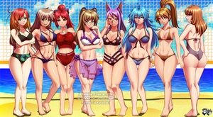 COMMISSION:Volleyball Bikini Players by jadenkaiba