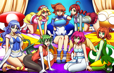 COMMISSION : Puyo Puyo Girls Harem by jadenkaiba