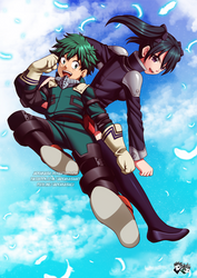 COMMISSION: Midoriya and Lenalee Lee by jadenkaiba