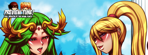 COMMISSION: Palutena and Samus Preview by jadenkaiba