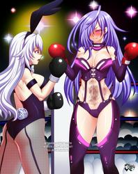 COMMISSION: Hyperdimension Boxing Fight 2 by jadenkaiba