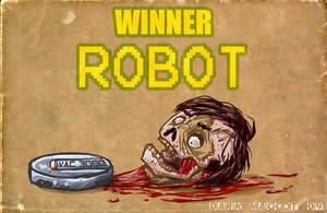 Zombie vs Robot by dark-maggot