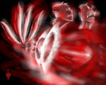 Naruto 4 Tails Power Attack by dark-maggot