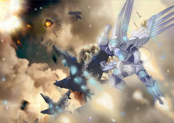 Mental Omega Norio air combat by TomShrimp
