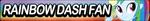 Human Rainbow Dash Fan button by MajkaShinoda626