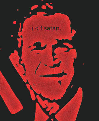 bush campaign for satan. by accostedllama