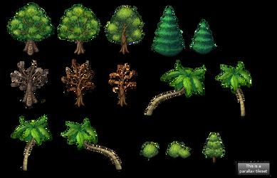 New tree set by PinkFireFly
