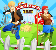 Rural Farm Tiles poster by PinkFireFly
