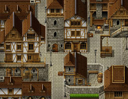 Medieval city by PinkFireFly