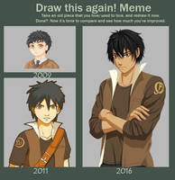 Draw This Again Meme (James) by PinkFireFly