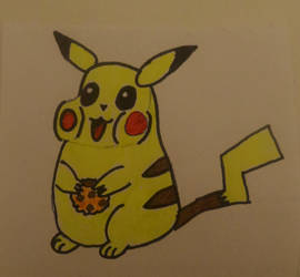 #inktober #inktober2017 #16: fat (pikachu) colored by kmd27