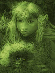 THE DARK CRYSTAL,  KIRA  AND FIZZGIG  1D by Legrande62