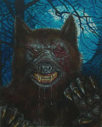 STEPHEN KING'S SILVER BULLET WEREWOLF A3 by Legrande62