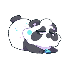A2- 143 Button Panda by capriamasterlist
