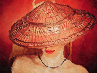 Lady In The Hat by JackieCrossley