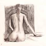 Sitting Figure from Behind by daYavuz