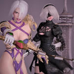 Curse or Punishment between Ivy and 2B by Hatredboy