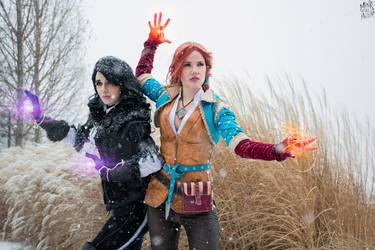 Triss and Yen - The Witcher 3 Wild hunt by SailorHasChopstickss