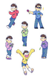 Osomatsu-san - Stickers designs by AKHTS