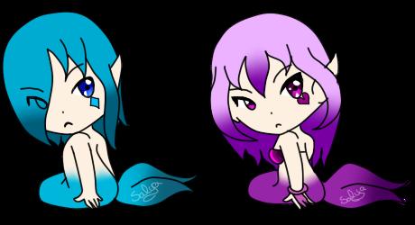 .:Adopt:. Mermaids [open] by SalyaDarken