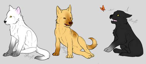 .:TW:. Wolf Pups by SalyaDarken