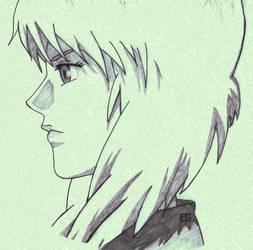 Motoko in Profile by GhettoMole