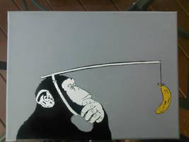 Monkey stencil by simpsonsguy14