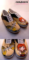 Paramore: Brand New Eyes Shoes by NickyToons