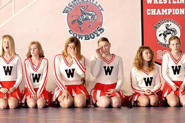 bored cheerleaders by Trueblood