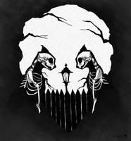 31 DOH: Cat Skulls by croonstreet