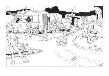 A Nudist Camping by ben1804