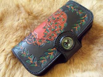 Black tree of life long wallet by gevar