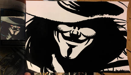 V for Vendetta Enlarged study 1 by Kwilia